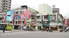 Taipei Street Scene Near the East Gate Trading Area. HD Stock Footage