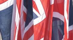 Union Jack UK Flags 4K - stock footage