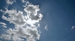 HD Time lapse of clouds Stock Footage