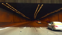 4K UHD driving through Phoenix city tunnel I-10 east Stock Footage