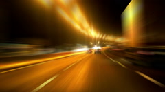 Cars on the highway in blurred motion - stock footage