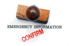 Emergency information - confirm Stock Illustration