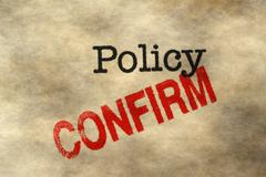 Policy confirm - stock illustration