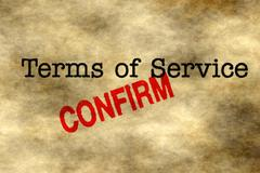 Terms of service - confirm - stock illustration