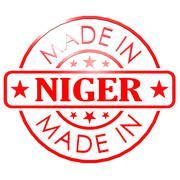 Made in Niger red seal Stock Illustration