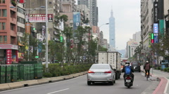 Taipei Street Scene Near the East Gate Trading Area. HD Stock Footage