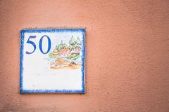 Street number 50 Kuvituskuvat