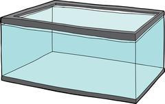 Fish Tank Full of Water - stock illustration