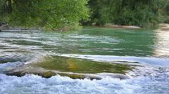 Huge rock in river. Stock Footage