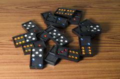Black domino Stock Photos