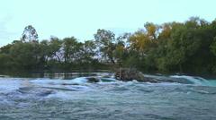 River near waterfall. Stock Footage