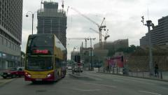 Hong Kong - Salisbury  Road Traffic Construction Site Time Lapse Stock Footage