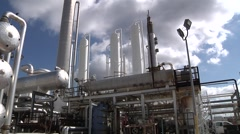 Natural Gas Processing Plant Close up Stock Footage