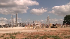 Natural Gas Processing Plant Long Pan Stock Footage