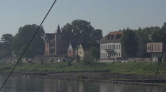 Housing Development Elbe River In Dresden Germany Stock Footage