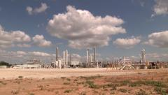Natural Gas Processing Plant Wide Stock Footage