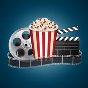 Movie template - stock illustration