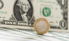 EUR/USD Exchange - stock photo