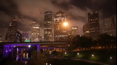 Houston Skyline Timelapse.mp4 Stock Footage