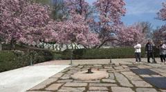 Arlington National Cemetery President Kennedy Eternal Flame 4K Stock Footage