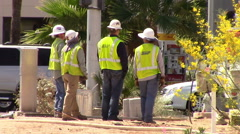 Group of Electrical Workers Stock Footage