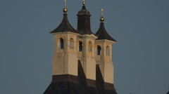 Roof Towers of Pillnitz Castle in Dresden Germany at the Elbe river Stock Footage