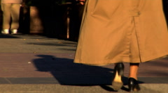 Pedestrians in an Urban City - stock footage