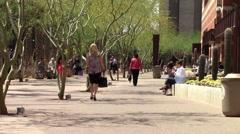 Employees on Lunch Break, Phoenix, AZ Stock Footage