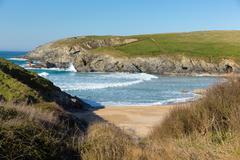 Porth Joke beach next to Crantock bay Cornwall England UK near Newquay Stock Photos