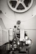 Cinema projector for 16 mm movie, old vintage  professional industrial machin Kuvituskuvat