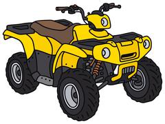 Yellow all terrain vehicle Stock Illustration