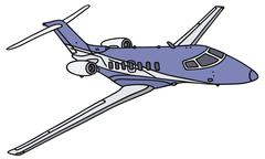 Small business jet Piirros