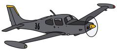 Small watch aircraft Stock Illustration