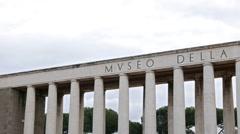 Colonnade. Museo della Civilta Romana. EUR district. Rome, Italy Stock Footage