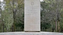 Monument Benito Juarez. EUR district. Rome, Italy Stock Footage
