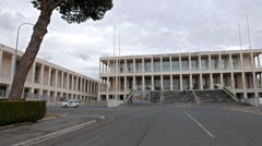 Central Archives of the State. Biblioteca. EUR district. Rome, Italy. 1280x720 Stock Footage