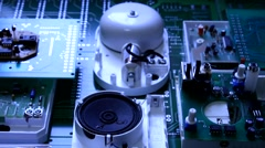 Stock Video Footage of Radio components on electronic board