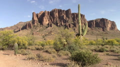 Superstition Mountains, Arizona Stock Footage