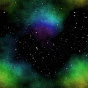 Seamless space pattern with color nebula Piirros