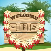 Welcome to Paradise Stock Illustration