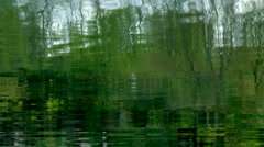Reflection of Trees Upon Water - stock footage