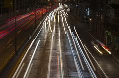 Stock Photo of car lights at night