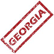 Stock Illustration of New Georgia rubber stamp