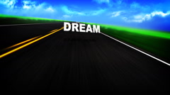 Animated Graphic of a Road with Words Stock Footage