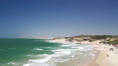 Mediterranean sea in Israel . Stock Footage