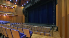 Empty concert hall awaits visitors. Stock Footage
