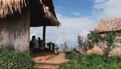 Tourists enjoy the view at the Doi Mon Jam Royal Agricultural Station, Thailand. Stock Footage