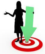 Reaching Her Goal Stock Illustration