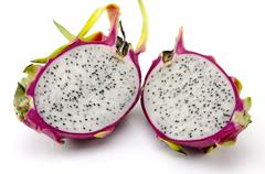 dragon fruit on white background - stock photo