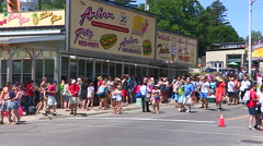 Summer in Port Dover with tourists and crowds at The Arbor Stock Footage